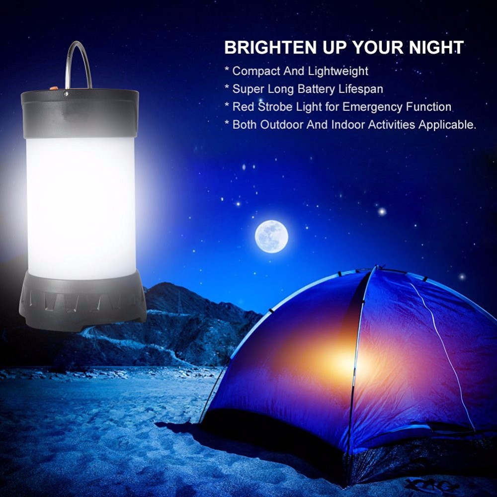 350 Lumen Camping LED Lantern 30LED Chips Fenix Style USB Tent LED Lamp Waterproof Mini Camping Light include 18650 Battery