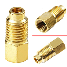 "1PC Mayitr R12 To R134a Brass Fitting Adapter Screw Thread 1/4"" Female Flare With O-ring X 1/2"" Acme Male For R134a Gauges Hose(China)"