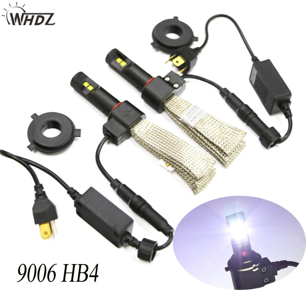 5th Generation Auto LED Headlight 9006 HB4 Conversion Kit 5000LM 40W High Beam Car 6500K Bulbs with Copper Cooling<br>
