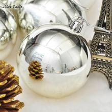 ISHOWTIENDA 2017 New 6Pcs Silver Christmas Balls Baubles Party Xmas Tree Hanging Ornament Decor Christmas Tree Decorations(China)