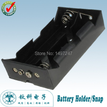 4 x 1.5V D  Battery Case Holder Spring Loaded Black Plastic Storage Box With Snap TBH-D-4C