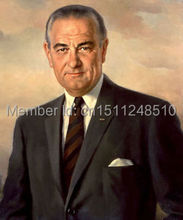 "Wholesale art oil painting -- TOP ART work --36"" inch canvas --Lyndon B. Johnson  US .President"