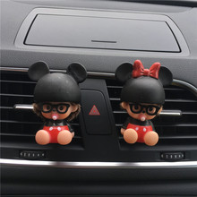 Lovers car perfume clip Lovely cartoon Air Conditioning decoration Car styling Perfume Lady Air Freshener Perfumes 100 Original