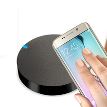 2017 Qi Wireless Charging Charger Pad qi wireless universal Charger for Samsung Galaxy S6 Edge Plus Free shipping Black