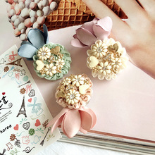 Korea Retro Daisy Flower Crown Bangs Clip Hair Accessories Rim Hair Clips For Women Fascinator Hairpin Hair Bows Headband 4(China)