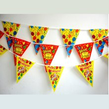 20PCS/LOT. Mixed design PE happy birthday party banner,Kids party decoration.Children's day oranment.Party favor.Party prop.3M