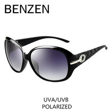 Sunglasses Women Polarized Elegant Rhinestone Ladies Sun Glasses Female Sunglasses Oculos De Sol BENZEN Shades With Case 6008(China)