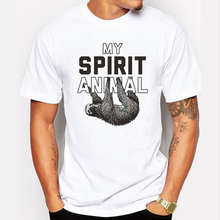 New 2017 My Sloth Spirit Animal T Shirt Hand Drawn Pop Design T-shirt Summer Style Short Sleeve Mens Tee Shirts Cool Tops