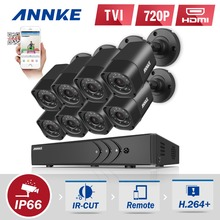 ANNKE 8CH 720P 1500TVL CCTV System 8pcs 720P IR Outdoor Security Cameras 8CH 1080N 4in1 DVR kit CCTV Surveillance System(China)