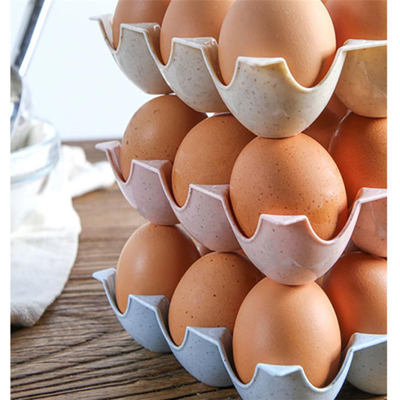 Egg Holder Box Refrigerator Storage Tray For 15Pcs Eggs Shatter-proof 8