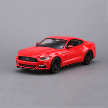 Mustang 1:24 Model Car Mustang GT Blue Red 1:24 Metal Racing Vehicle Play Collectible Models Sport Cars toys For Gift(China)