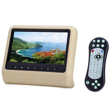 9 Inch Car Headrest DVD Player XD9901 800 x 480 LCD Backseat Monitor Full Functional USB  SD FM Speaker Car Seat Game Player