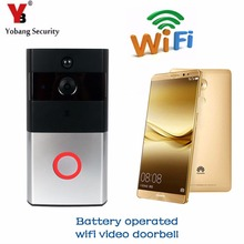 YobangSecurity Battery Powered WiFi Wireless Video Door Phone Doorbell Home Security Door Intercom With PIR Motion,Two-Way Talk