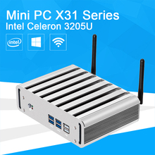 XCY Intel Celeron 3205U Mini PC With VGA HDMI 6 USB 300M WIFI Micro Computer Windows Linux Desktop PC(China)