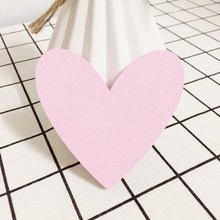Cute Heart wooden clothes hook (size 9*9*0.9cm) for princess baby room wall decorate children room ECO friendly hanger hook