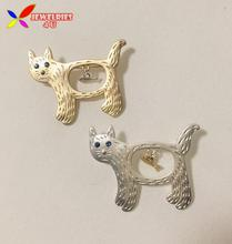 2015 Animal Pins Fashion Designer Cute golden Silver Cat Fish Beautiful Costume Brooches Accessorries jewelry broches