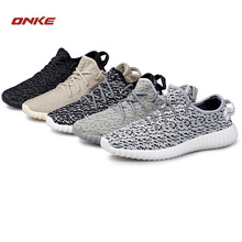 ONKE Winter new high class sports shoes men personality nets cloth running shoe wear-resisting outsole lights Women(China)