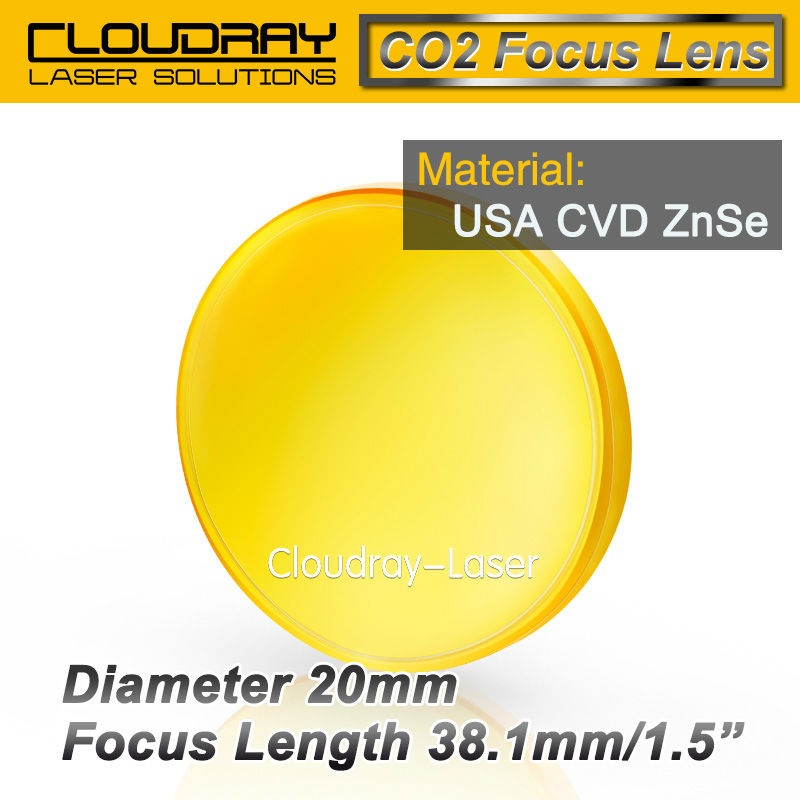 USA CVD ZnSe Focus Lens Dia. 20mm FL 38.1mm 1.5 for CO2 Laser Engraving Cutting Machine Free Shipping<br><br>Aliexpress