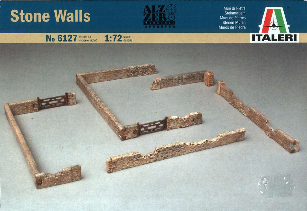Out of print! ITALERI Military Model 1/72 Accessories Stone Walls Scale Hobby 6127 T6127(China)