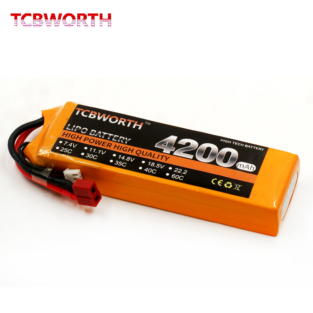 TCBWORTH 11.1V 4200mAh 30C 3S RC Airplane LiPo battery For RC Drone Quadrotor Helicopter Car Boat Li-ion battery<br>