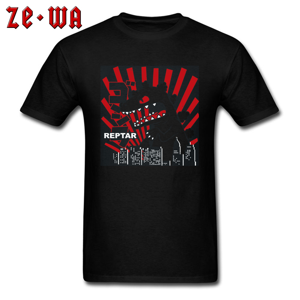 Green Reptar Rugrats 21845 New Design Short Sleeve Normal T Shirt 100% Cotton Crew Neck Men\`s Tops & Tees T Shirt Summer Green Reptar Rugrats 21845 black