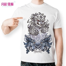 New Legendary Mystical Western Beasts T Shirt Men West White Tiger T-shirt Japan China Mystery Culture Tshirt Unisex(China)