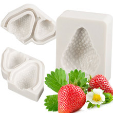 3Pcs Strawberry Design Silicone Mold Fondant Mould Cake Decorating Tool Chocolate Gumpaste Mold, Sugarcraft, Kitchen Accessories(China)