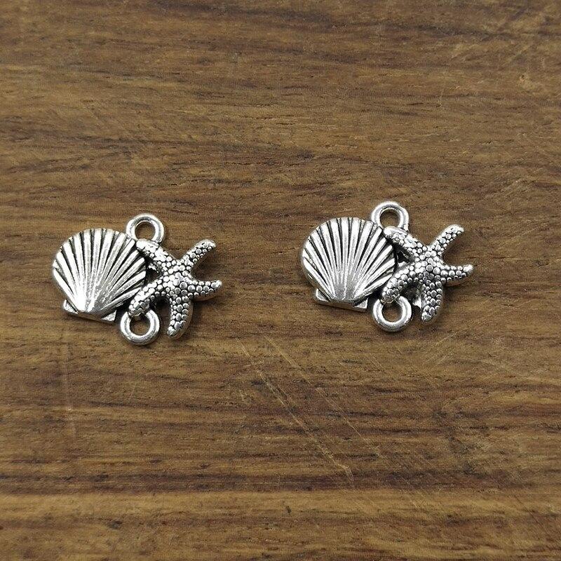 10 Tibetan Silver Butterfly  Pendant Charms  17m x 10mm