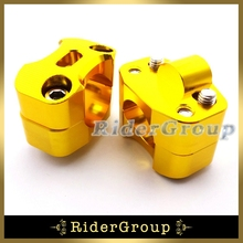 Gold Aluminum 1 1/8'' 28mm Oversize Handlebar Clamp Adapter Risers Taper For Pit Dirt Bike ATV Quad Motorcycle 50cc 90 110 125cc(China)