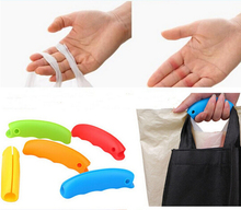 250pcs/lot Candy Color Silicone High Strength Multi Shopping Grocery Bag Holder Handle Carry Carrier Carry Bag Tools(China)