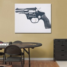 QCART The Grey Gun Print Wall Art Decoration Oil Painting On Canvas Wall Painting Picture Posters And Advertisements(China)