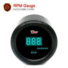 "52mm 2"" Black Car Motor Digital Blue LED TACHO TACHOMETER RPM Warning GAUGE(China)"