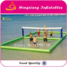 Good Quality 12x6m Inflatable VolleyBall Court Playing In Water Or Sandbeach(China)