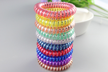 Candy Colors Telephone Wire Hair Accessories Hair Ring Rope Traceless Women Gum Elastic Candy Colored Headdress Tools