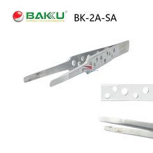 Professional Repair Tool of BAKU BK 2A-sa Blunt Precision Fine Stainless Steel Tweezers with Hollow-out Design for Mobile Phone