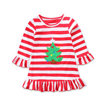 CHAMSGEND Kids Babys Girls Coat 2017 Happy Thanksgiving Turkey Stripe Dress Sundress Outfit Drop Shipping Oct20 p23(China)