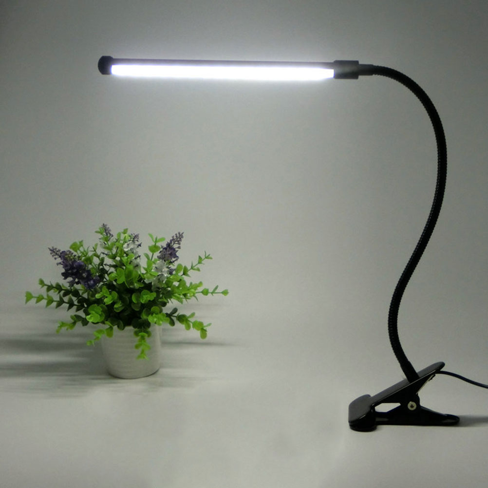 Black&amp;Silver Led Reading Lamp With Clip Eye Protection US Plug Table Light With White &amp; Warm White Light Adjustable Led Table <br><br>Aliexpress
