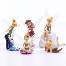 6pcs/Set Cartoon Mini Flying Flower Fairy Miniature Figurine Bonsai Craft DIY Dollhouse Garden Ornament Decoration Toys(China)