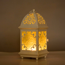 Morocco Wrought Iron Glass Lantern Tea Light Candle Holder Home Wedding Garden Decor