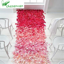 2017 New Hot Wedding Events Decoration 500pcs Silk Rose Petals Table Artificial Flowers Engagement Celebrations Party Supplies.b(China)