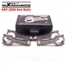 For Toyota 5EFE 16 VALVE DOHC 4 H beam Conrod Con connecting rod ARP 2000 Bolt Balanced Floating Pin Shot peen Race 800hp