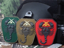PVC Patch Scorpion PVC Patches Military Tactical Armband Rubber Badge Hook & Loop Badges For Clothing Jacket Backpack Bag Cap(China)