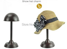 Free Shipping Bronze Metal Hat Stand Hat& Wig Display Stand Rack MJ07