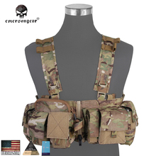 UW Gen V Split Front Chest Rig Emerson Vest Body Armor Airsoft Paintball Combat Gear EM7451 Multi-cam(China)