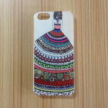 Cartoon Girl Bohemia Dress Design Hard PC Plastic Coque Cover for iPhone 5 5s Phone Cases Accessories(China)