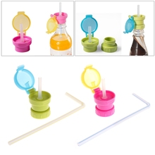 Baby Kids Drinking Tube Bottle Cup Cap Straw Cover Choking Preventing Healthy(China)