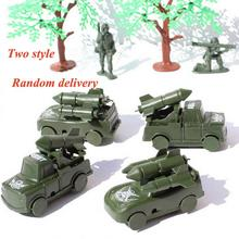 CHBR22 4 pcs Military Missile Cars Trucks Army Men Toy Soldier Accessories new(China)