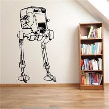 Star Wars AT-ST Scout Walker AT ST Vinyl Wall Art Decal Sticker Sci-fi Movie Boy Room Ideas Bedroom Wall Stickers Home Decor(China)