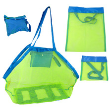 Portable Beach Pouch Sand Away Kids Collect Toys Mesh Tote Storage Organizer Bag