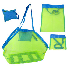 Portable Beach Pouch Sand Away Kids Collect Toys Mesh Tote Storage Organizer Bag(China)